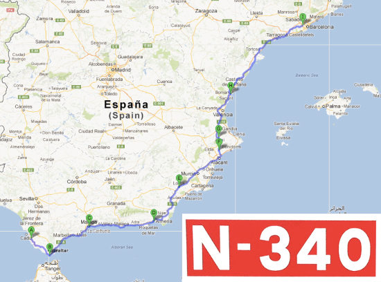 Blog mrw cu l es la carretera m s larga de espa a for Oficinas mrw madrid